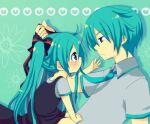 1boy 1girl female hatsune_miku hatsune_mikuo male vocaloid