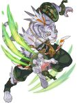 1boy animal_ears animal_nose arm_up armband armor artist_request belt body_fur broken broken_chain chain claws clenched_teeth colored_sclera cuffs full_body furry green_legwear green_shorts grey_fur grey_hair hair_ribbon highres jumping leg_up male_focus multicolored_hair muscular muscular_male non-web_source official_art orange_eyes orange_ribbon outstretched_arm pawpads paws ponytail ribbon ribbon-trimmed_legwear ribbon_trim scar shackles shiro_(world_flipper) shirtless short_hair shorts shoulder_armor single_sock snout socks solo tail teeth thigh_pouch tied_hair tiger_boy tiger_ears tiger_tail toeless_legwear transparent_background two-tone_hair whiskers white_fur world_flipper yellow_sclera zipper zipper_pull_tab