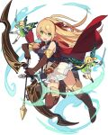 3girls arisa_(shadowverse) arm_up armlet arrow_(projectile) artist_request aura bangs bare_shoulders belt black_gloves blonde_hair blue_eyes blue_outline blue_shirt blush boots bow_(weapon) breasts brown_footwear butterfly_wings cape clenched_hand closed_mouth dress elbow_gloves eyebrows_visible_through_hair fairy fairy_wings frilled_skirt frills full_body gloves green_dress green_eyes hair_ribbon hair_tie hairband hand_up happy high-waist_skirt highres holding holding_arrow holding_bow_(weapon) holding_sword holding_weapon jewelry knee_boots knees_together_feet_apart layered_sleeves leg_up light_blush long_hair long_sleeves looking_at_viewer multiple_girls neck_ribbon non-web_source official_art one_eye_closed open_mouth outline outstretched_arm parted_bangs pointy_ears quiver red_cape red_hairband red_neckwear red_ribbon ribbon shadowverse sheath sheathed shiny shiny_hair shirt short_over_long_sleeves short_sleeves sidelocks single_earring skin_tight skirt sleeveless sleeveless_shirt small_breasts smile solo_focus spread_legs sword teeth thigh-highs thigh_boots tied_hair transparent_background twintails v-shaped_eyebrows weapon white_skirt wings world_flipper zettai_ryouiki