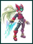 border capcom gloves ojisan_bosatsu rockman rockman_zero sword weapon zero_(rockman)