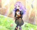 1girl cat feathers fire_emblem fire_emblem:_rekka_no_ken fire_emblem:_the_blazing_blade fire_emblem:_three_houses florina_(fire_emblem) purple_hair school_uniform