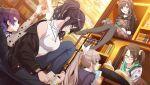 black_hair brown_eyes dress idolmaster idolmaster_shiny_colors long_hair ponytail shirase_sakuya