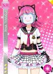 character_name covering_face dress love_live!_nijigasaki_high_school_idol_club love_live!_school_idol_festival_all_stars pink_hair short_hair sketch smile tennouji_rina