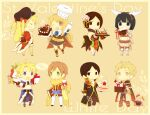 4boys 4girls alchemist_(ragnarok_online) animal_around_neck armor armored_boots bag bangle bangs belt black_coat black_eyes black_footwear black_gloves black_hair black_shirt black_shorts blonde_hair blue_belt blue_cape blue_gloves blue_jacket book boots bottle bouquet bracelet breastplate brown_belt brown_cape brown_coat brown_dress brown_eyes brown_footwear brown_gloves brown_hair brown_headband brown_legwear brown_pants brown_shirt cake candy candy_cane cape chainmail chef_hat chibi chocolate chocolate_milk closed_mouth coat commentary_request cookie crop_top cross cross-laced_footwear cross_necklace detached_sleeves dress elbow_gloves endo_mame english_text facial_mark fake_wings fingerless_gloves fishnet_legwear fishnets flower food fox full_body fur-trimmed_cape fur-trimmed_jacket fur-trimmed_shorts fur_collar fur_trim gauntlets gift gloves green_eyes hair_between_eyes hair_flower hair_ornament hanbok hat heart-shaped_cake holding holding_bag holding_book holding_bottle holding_tray holding_whisk icing jacket jewelry knight_(ragnarok_online) korean_clothes light_brown_hair long_hair long_sleeves looking_at_another looking_at_viewer looking_to_the_side multiple_boys multiple_girls necklace open_clothes open_coat open_jacket open_mouth pants pantyhose pauldrons pie pink_flower priest_(ragnarok_online) professor_(ragnarok_online) ragnarok_online red_coat red_flower red_jacket red_shirt rogue_(ragnarok_online) shirt shoes short_hair short_ponytail short_shorts short_sleeves shorts shoulder_armor simple_background sleeveless sleeveless_shirt slime_(creature) smile socks soul_linker_(ragnarok_online) stalker_(ragnarok_online) striped_sleeves tray two-tone_coat valentine vanilmirth_(ragnarok_online) violet_eyes waist_cape whisker_markings white_day white_pants white_sleeves white_wings wine_bottle wings wrapped_candy yellow_flower yellow_sleeves