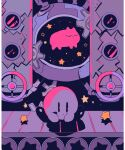 closed_eyes closed_mouth conveyor_belt factory gears indoors kirby kirby_(series) kirby_64 limited_palette machine machinery no_humans shadow sitting soumenhiyamugi star_(symbol) tube