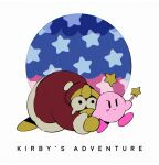 1boy beak bird closed_mouth copyright_name hat holding king_dedede kirby kirby's_dream_land kirby_(series) nightmare_(kirby) nightmare_orb no_humans penguin simple_background soumenhiyamugi star_(symbol) star_rod tears white_background