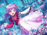 bang_dream! blush dress long_hair purple_hair red_eyes smile twintails udagawa_ako