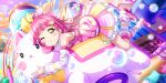 blush dress love_live!_school_idol_festival_all_stars pink_hair short_hair tennouji_rina yellow_eyes