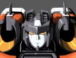 ark_line decepticon frown grey_background highres looking_at_viewer mecha no_humans portrait science_fiction shoulder_cannon solo starscream transformers transformers_armada upper_body