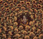 1girl avogado6 black_eyes blood dress field flower flower_field from_above green_hair highres holding holding_scissors horror_(theme) open_mouth original outdoors sandals scissors solo sunflower sweat tears wide-eyed