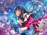 bang_dream! black_hair dress long_hair shirokane_rinko smile violet_eyes