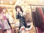 bang_dream! black_hair blush dress long_hair shirokane_rinko smile violet_eyes