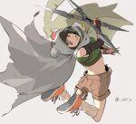 cloak final_fantasy final_fantasy_vii final_fantasy_vii_remake ninja shillo shuriken yuffie_kisaragi