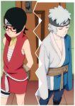 1boy 1girl black_hair female glasses male mitsuki_(naruto) naruto naruto_(series) uchiha_sarada