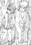 1boy 1girl boruto:_naruto_next_generations female male mitsuki_(naruto) naruto naruto_(series) uchiha_sarada