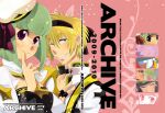 1boy 1girl archbishop_(ragnarok_online) bangs black_dress black_gloves black_hairband blonde_hair blue_eyes blunt_bangs blush bob_cut choker cleavage_cutout closed_mouth clothing_cutout coat commentary_request cover cover_page dated doujin_cover dress english_text eyebrows_visible_through_hair fingerless_gloves gloves green_hair grin hair_between_eyes hairband hat looking_at_viewer otsuki_(tm3n) ragnarok_online sailor_hat short_hair smile two-tone_dress upper_body violet_eyes white_coat white_dress white_headwear