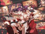 bang_dream! dress long_hair ponytail purple_hair red_eyes seta_kaoru smile