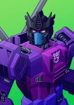 1boy absurdres aircraft decepticon evil evil_eyes green_background helicopter highres jim_stafford mecha simple_background spinister the_transformers_(idw) transformers transformers:_war_for_cybertron_trilogy