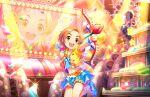 armpits blush dress idolmaster_cinderella_girls_starlight_stage orange_hair ryuuzaki_kaoru short_hair smile yellow_eyes