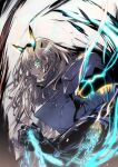 1girl absurdres armor baiomeisai blonde_hair chain fate/grand_order fate_(series) gauntlets gawain_(fairy_knight)_(fate) glowing glowing_eyes highres holding holding_chain huge_filesize long_hair