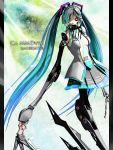 android calne_ca cosplay deino hatsune_miku hatsune_miku_(cosplay) highres karune_cl maeda_koutarou mechanical mikumikudance original vocaloid