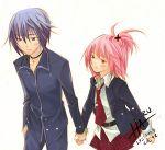 hand_holding hinamori_amu lowres shugo_chara! tsukiyomi_ikuto