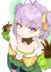 1girl antenna_hair bare_shoulders blush breasts coffeekite fate/extra fate/extra_ccc fate/extra_ccc_fox_tail fate/grand_order fate_(series) gloves highres kazuradrop_(fate) long_sleeves looking_at_viewer purple_hair short_hair small_breasts solo violet_eyes