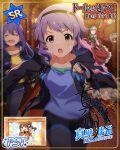 blush character_name dress idolmaster_million_live!_theater_days makabe_mizuki purple_hair short_hair yellow_eyes