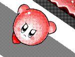 animated closed_mouth commentary english_commentary flipnote_studio_(medium) jumping keke_(kokorokeke) kicking kirby kirby_(series) lowres pink_theme punching running