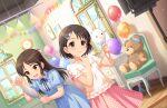 black_eyes black_hair idolmaster_cinderella_girls_starlight_stage sasaki_chie shirt short_hair smile