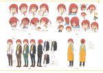 1girl absurdres character_sheet expressions highres kobayashi-san_chi_no_maidragon kobayashi_(maidragon) multiple_views official_art production_art scan turnaround variations zip_available