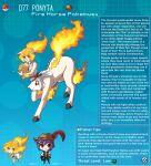 blue_hair centaur english_commentary english_text fiery_hair fire gen_1_pokemon hat hat_feather highres kinkymation monster_girl poke_ball pokemon taur