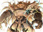 1girl armor blonde_hair breastplate chain fate/grand_order fate_(series) gauntlets gawain_(fairy_knight)_(fate) heterochromia kan_(aaaaari35) long_hair pauldrons shoulder_armor white_background