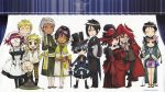 absurdres angelina_durless artist_request bard bare_shoulders blue_eyes blue_hair chibi chinese_clothes ciel_phantomhive everyone eyepatch finny formal glasses gloves gothic grell_sutcliff hat highres kuroshitsuji lau madam_red meirin ranmao sebastian_micheals suit tanaka trenchcoat yellow_eyes
