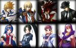 arcana_heart blazblue blonde_hair blue_eyes blue_hair brown_eyes brown_hair clarice_di_lanza crossover fiona_mayfield green_eyes guilty_gear hat hazama headband japanese_clothes jin_kisaragi jpeg_artifacts katana ky_kiske military military_uniform mugen_(game) nun order_sol pink_hair ribbon school_uniform short_twintails sol_badguy sword tokinomiya_kamui tsuzura_saki twintails uniform weapon wings yellow_eyes