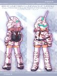 bag boots gloves gundam gundam_unicorn helmet mecha_musume personification sankuma thigh-highs thighhighs unicorn_gundam