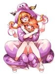 2girls animal_costume blonde_hair braid dragon_costume dragon_girl dragon_horns dragon_tail fangs gradient_hair hololive hololive_english horns hug kiryu_coco legs looking_at_viewer mamaloni middle_finger multicolored_hair multiple_girls navel official_alternate_costume open_mouth orange_hair pajamas pointy_ears simple_background smile streaked_hair tail takanashi_kiara twin_braids two-tone_hair violet_eyes virtual_youtuber white_background