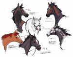 6+others bridle daiwa_scarlet_(racehorse) gold_ship_(racehorse) highres horse mejiro_mcqueen_(racehorse) multiple_others no_humans portrait real_life special_week_(racehorse) takatsuki_nato tokai_teio_(racehorse) vodka_(racehorse)