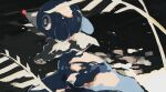 absurdres blue_eyes bright_pupils commentary_request creature from_side gen_7_pokemon highres kamonabe_(kamonabeekon) leaf no_humans pokemon pokemon_(creature) popplio solo starter_pokemon white_pupils