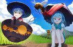 2girls absurdres highres multiple_girls nerkia sukuna_shinmyoumaru tatara_kogasa touhou umbrella wasp