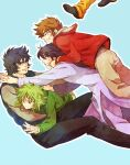 andromeda_shun cygnus_hyoga dragon_shiryu k2guui pegasus_seiya phoenix_ikki saint_seiya simple_background