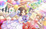 black_hair blush brown_eyes dress idolmaster_cinderella_girls_starlight_stage long_hair tachibana_arisu wedding