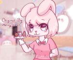 1girl arcade_madness arcade_madness(artist) cupcake cupcakes eyes fanart happy pink_eyes pink_hair sarah_the_bunny