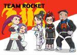 2girls 3boys absurdres arlo_(pokemon) cliff_(pokemon) highres james_(pokemon) jessie_(pokemon) multiple_boys multiple_girls pokemon pokemon_(anime) pokemon_(game) ritaro_n sierra_(pokemon) team_rocket