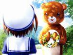 bear clannad fumio mishima_tomo sakagami_tomoyo seifuku tagme tomoyo_after