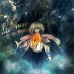 blonde_hair calcifer fire ghibli howl howl_no_ugoku_shiro male sin_(hitonatsu) solo studio_ghibli
