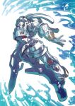 full_body highres king_gainer mecha no_humans overman_king_gainer robot solo sword tukiwani weapon