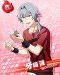 character_name dress grey_hair idolmaster idolmaster_side-m kizaki_ren short_hair smile yellow_eyes
