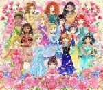 6+girls 87854424 anna_(frozen) aqua_dress aqua_eyes ariel_(disney) aurora_(disney) bangs black_hair blonde_hair blue_dress blue_eyes bow braid breasts brown_dress brown_eyes brown_hair candy cinderella_(disney) collar corset crop_top crown curly_hair dark-skinned_female dark_skin disney dress earrings elsa_(frozen) fa_mulan_(disney) floral_background flower food formal frilled_dress frills frozen_(disney) gown green_dress green_eyes grey_eyes hair_bow hair_bun hair_ornament hair_ribbon harem_pants high_collar holding holding_flower japanese_clothes jasmine_(disney) jewelry kimono leaf_hair_ornament lollipop long_hair merida_(brave) messy_hair moana_waialiki multicolored_hair multiple_girls navel off-shoulder_dress off_shoulder pants pink_dress platinum_blonde_hair pocahontas_(disney) ponytail princess puffy_sleeves purple_dress rapunzel_(disney) red_bow redhead ribbon short_hair sleeping_beauty snow_white snow_white_(disney) streaked_hair tiana_(the_princess_and_the_frog) tiara vanellope_von_schweetz wreck-it_ralph yellow_dress yellow_eyes
