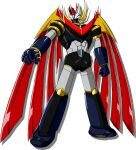 clenched_hands looking_to_the_side mazinemperor_g mazinger_(series) mecha mechanical_wings no_humans official_art science_fiction shadow solo super_robot super_robot_wars super_robot_wars_v transparent_background wings yellow_eyes